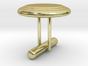 Cufflink Style 7 in 18k Gold Plated Brass