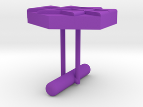 Cufflink Style 12 in Purple Processed Versatile Plastic