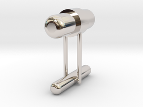 Cufflink Style 8 in Rhodium Plated Brass