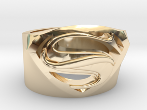 Supweman RIng US10.5 in 14K Yellow Gold