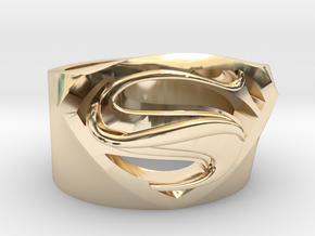 Supweman RIng US10.5 in 14k Gold Plated Brass