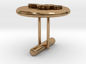 Treble Cle Cufflink 2 in Polished Brass