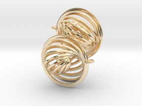 Concentric Earrings in 14K Yellow Gold