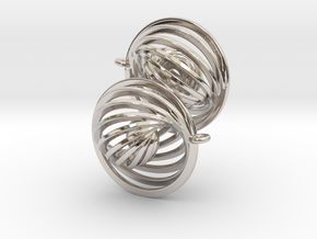 Concentric Earrings in Platinum