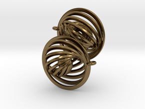 Concentric Earrings in Polished Bronze