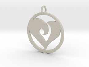 Heart Amulet in Natural Sandstone