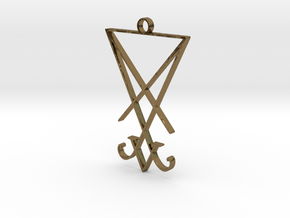 Lucifer's Sigil in Polished Bronze