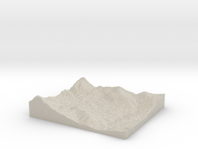 Model of Cold Springs Rancheria in Natural Sandstone