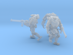 Combat Walkers X3, 15mm Scale, Unbased in Frosted Ultra Detail