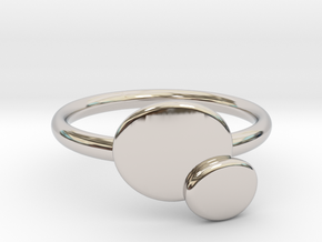 Double O ring size Medium in Rhodium Plated Brass
