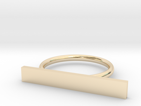 Space Ring (Size Medium) in 14k Gold Plated Brass