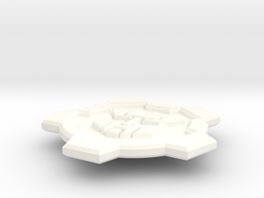 Wrecker Button - Single in White Processed Versatile Plastic