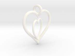 Love Hearts in White Processed Versatile Plastic