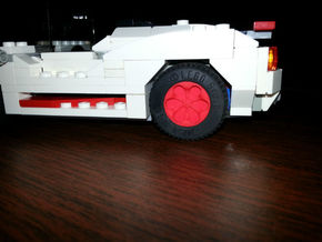 TEARDROP_1814CS - LEGO-compatible Custom Rims in Red Strong & Flexible Polished