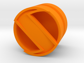 SPINNER_1814CS_LEFT - LEGO-compatible Custom Rims in Orange Strong & Flexible Polished