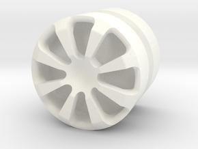 SPIDER_1814CS - LEGO-compatible Custom Rims in White Processed Versatile Plastic