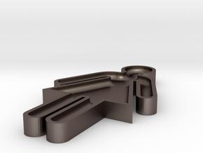 washroom key 100% scale in Polished Bronzed Silver Steel