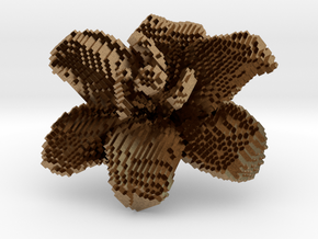 Lily Flower 1 Block - S1 in Natural Brass