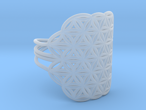 FLOWER OF LIFE Ring Nº32 in Smoothest Fine Detail Plastic