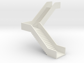 N Station Stairs H40 90° Right in White Natural Versatile Plastic