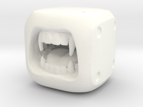Dice Vampire- Monster Dice - 16mm in White Strong & Flexible Polished