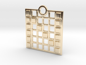 N in 14k Gold Plated Brass