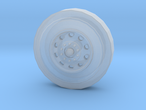10-hole Alloy Semi Tractor Front Wheel in Smoothest Fine Detail Plastic