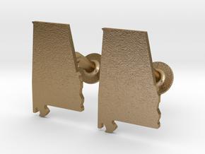 Alabama Cufflinks in Polished Gold Steel