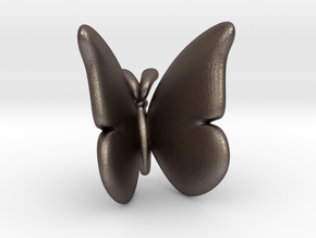 Butterfly 1 - L in Polished Bronzed Silver Steel