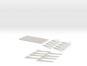 Hrubetz Fireball Sweeps, Spreaders, and Sweep Ends in White Natural Versatile Plastic