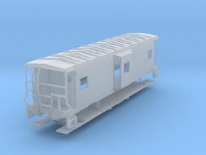 Sou Ry. bay window caboose - Gantt - N scale in Smooth Fine Detail Plastic