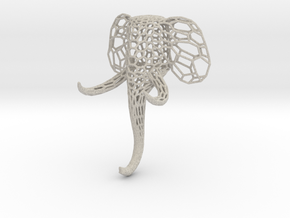 Small elephant clothes-hanger Voronoi in Natural Sandstone