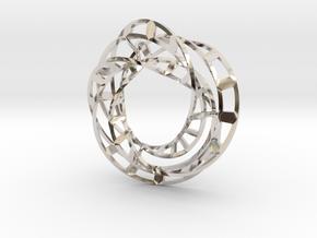 Triple Twisted Mobius Loop (Pendant) in Platinum