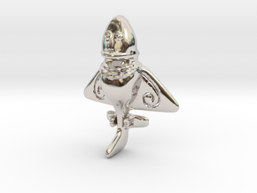 Vimana in Rhodium Plated Brass