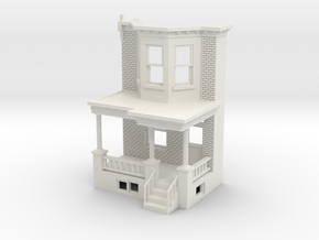 O scale WEST PHILLY ROW HOME FRONT END CUT  in White Natural Versatile Plastic