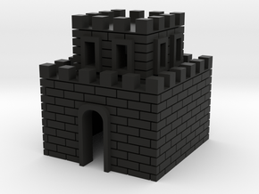 Mini Castle in Black Natural Versatile Plastic