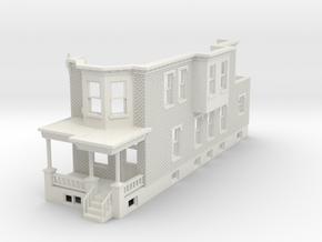 O scale WEST PHILLY ROW HOME END 48 in White Natural Versatile Plastic