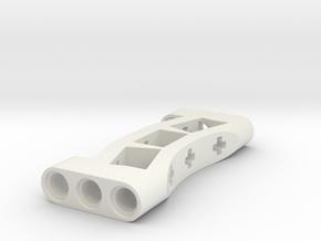 wheelholder for Turntable Support 13m in White Natural Versatile Plastic