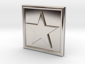 S-1-STAR in Rhodium Plated Brass