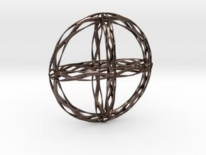 Cross Pendent in Polished Bronze Steel