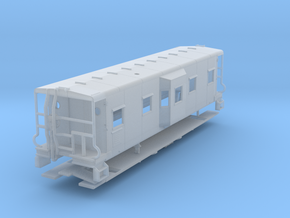 Sou Ry. bay window caboose - Round roof - TT scale in Frosted Ultra Detail