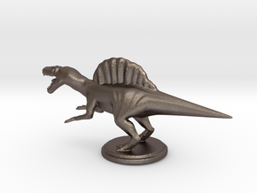 Replica Miniature Dinosaurs Spinosaurus Model A.02 in Polished Bronzed Silver Steel