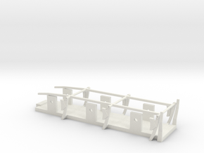 Fowler Tender - P4 Chassis in White Natural Versatile Plastic