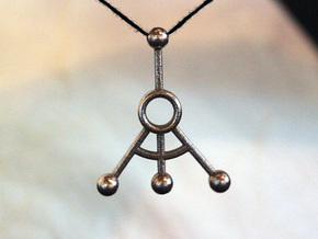 Q-leanring Backup Diagram Pendant in Polished Bronzed Silver Steel