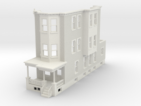 O scale WEST PHILLY 3S ROW HOME Brick RD in White Natural Versatile Plastic