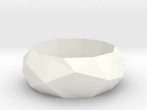 Low-poly Ring in White Processed Versatile Plastic