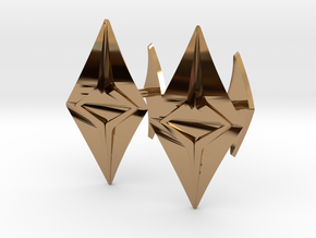 HEAD TO HEAD Fusion, Bend Cufflinks in Polished Brass