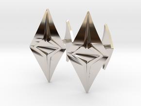 HEAD TO HEAD Fusion, Bend Cufflinks in Platinum
