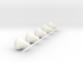 Senet White Pieces Only in White Processed Versatile Plastic
