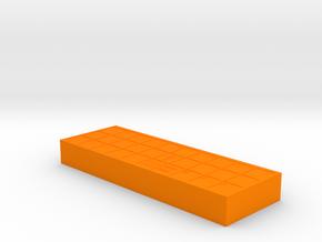 Ancient Senet Board Game Board Only  in Orange Processed Versatile Plastic